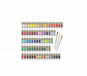 MyArtscape Paint Set 72 x 21ml Tubes & 3 Paint Brushes