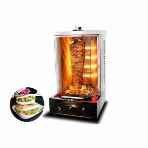 SMJ 4 Heating Tubes Countertop Vertical Rotisserie