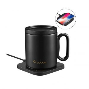 AAOBOSI Mug Warmer 2-In-1 Coffee Mug