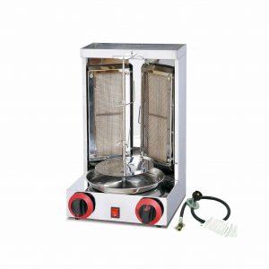 Aistan Barbecue Propane Gas Two Burner Vertical Rotisserie