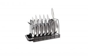 Vdomus Pot Rack Organizer with Sponge Holder