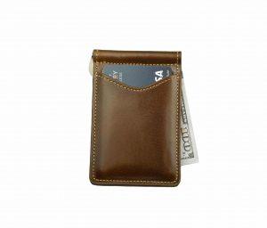 Palm West Leather Slim Design RFID Blocking Money Clip Wallet