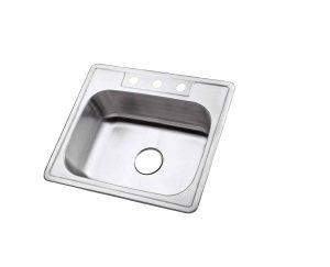 Kingston Brass Gourmetier 3-Holes Single Bowl Kitchen Sink