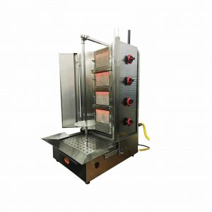 Spinning Grillers Shawarma Machine 4 Burners Natural Gas
