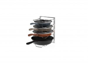Simple Houseware Kitchen Cabinet Five Adjustable Compartment Pan Organizer
