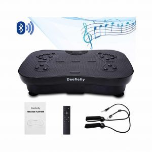 Deefielly Mini Vibration Plate with Built-In Bluetooth Speaker