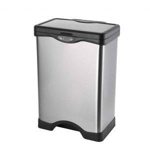 SIMPLYKLEEN Stainless Steel Automatic Trash Can