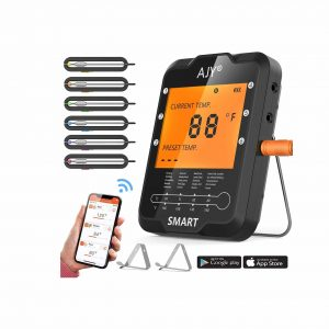 AJY BBQ 6 Probe Digital Meat Thermometer