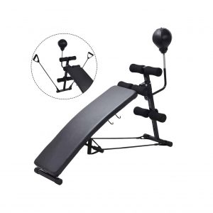 GYMAX Sit Up Bench for Abs with Speed Balls