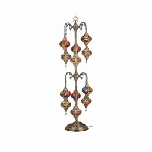 DEMMEX Mosaic Tree Floor Lamp 12 Big Globes