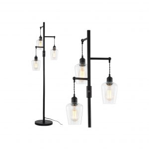Airposta Bribyit 3 Lights Industrial Floor Lamp 40W