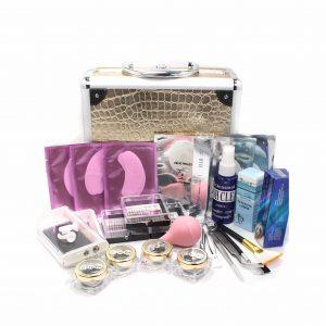 WindMax Deluxe Gold Case Eyelash Extension Kit