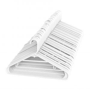 Sharpty White Plastic Hangers
