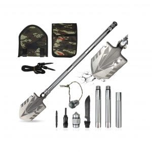 TTDC Survival Shovel Military Folding 33 Inch Camping Shovel