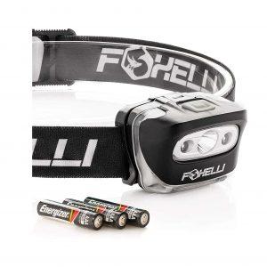 Foxelli Headlamp Flashlight 3 AAA Batteries