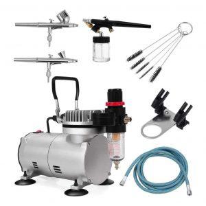 Kanizz DIY Compressor Dual Action Spray Air Brush Kit