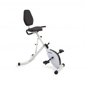 FitDesk Folding Stationary Exercise Bike Desk