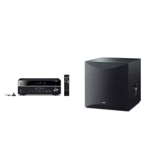 Yamaha 5.1 Channel AV Receiver 100W Powered Subwoofer 10 Inches