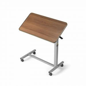 Invacare Overbed Table, Height Adjustable