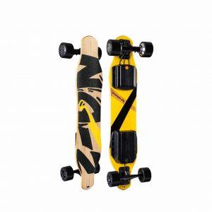 Swagtron Longboard Skateboard Dual Hub Brushless Motor