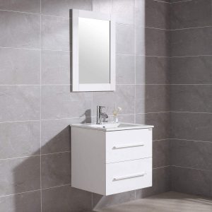 WONLINE 24″ Wall Mounted Bathroom Vanity Set
