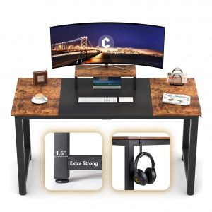 CubiCubi Computer Office Small 47 Inches Long Desk