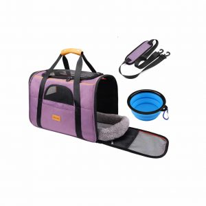 Morpilot Pet Travel Carrier Bag with Locking Safety Zippers