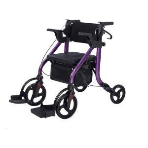 Elenker 2 in 1 Rollator Walker & Transport Chair