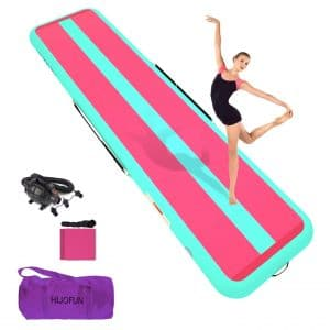 HIJOFUN Inflatable Gymnastic Tumbling Mat