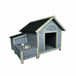 Seny Outdoor Wooden Dog House 42 x 39 x 30 Inches