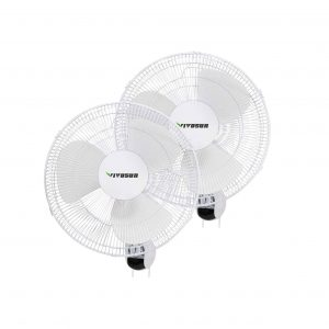 VIVOSUN 2 PACK 16 inch Wall Mount Oscillating Fan