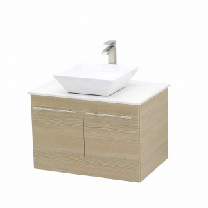 WindBay Wall Mount Floating Bathroom Vanity Sink