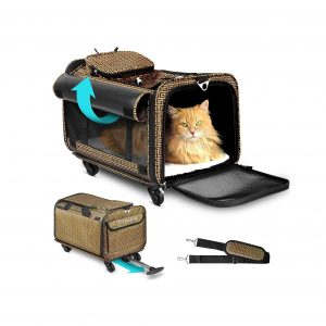 Cozzzy Airline Approved Pet Carrier with Wheels