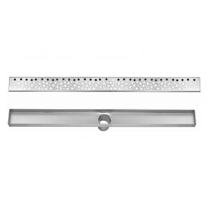 DreamDrain 28 Inches Brushed Steel Linear Shower Drain