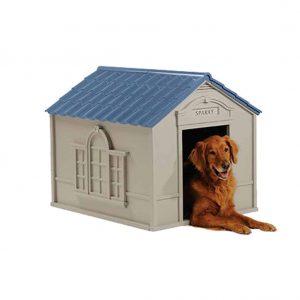 Suncast Deluxe Dog House Furniture Ventilated Sturdy Plastic