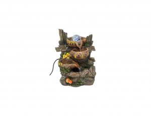 ImagiWonder Indoor Tabletop Fountain with Cascading Water Buckets