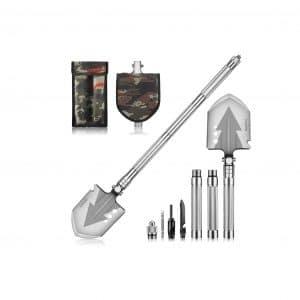 NACATIN Camping Shovel,71cm 16-in-1 Survival Shovel