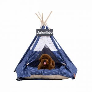 Arkmiido Pet Teepee Cat and Dog Tent