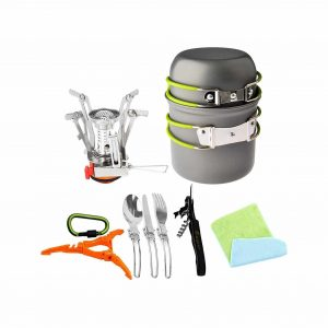Bisgear 12pcs Camping Cookware Mess Kit