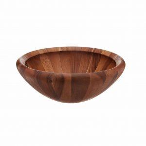 Dansk 816285 Round Wood Salad Bowl