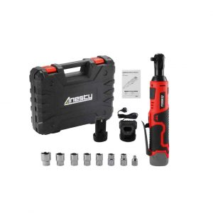 Anesty 3.8″ Cordless Electric Ratchet Wrench Set