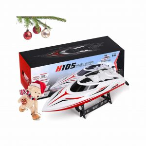 RC Boat, Double Layer Waterproof 25km h Remote Control Boat
