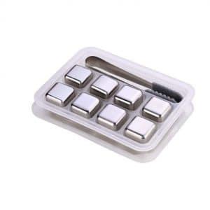 eoocvt Reusable Stainless Steel Ice Cubes