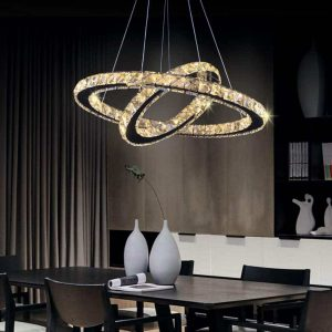 TongLan LED Chandelier Modern Contemporary 2 Rings