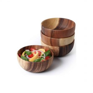 Acacia Wood Bowl Set of 4