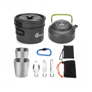 Odoland Camping Cookware Mess Kit