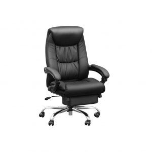 Duramont Reclining Leather Office Chair with Lumbar Support