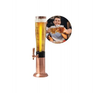 Refinery 2.6 L Beer Tower Drink Dispenser for Gameday and Parties