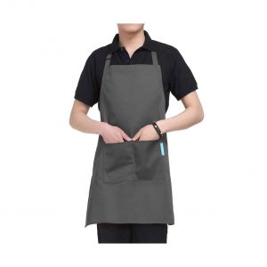 esonmus Cooking Apron with an Adjustable Neck Belt – Gray