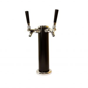 BEERGON BT-1000 2-Tap Draft Beer Tower 3-inch Diameter 13-inch High
